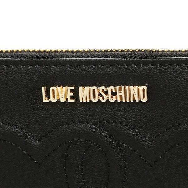 LOVE MOSCHINO 財布 ラブモスキーノ JC5541PP03KL0 000 EMBOSSED HEART 長財布 BLACK