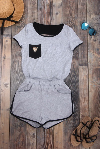 ホット2016セクシーな女性の半袖TシャツトップSportwearショーツパンツTacksuit衣装セットJum