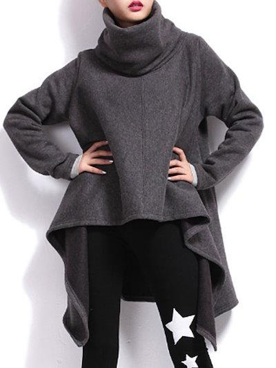 着こなす秋冬暖かいスタンドネックファッション長袖ケープ