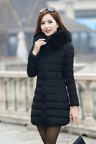 プラスサイズS  -  5XL女性の冬暖かいフードダウンコットンパディングパーカー女性のためコットンパッド入りジャケット
