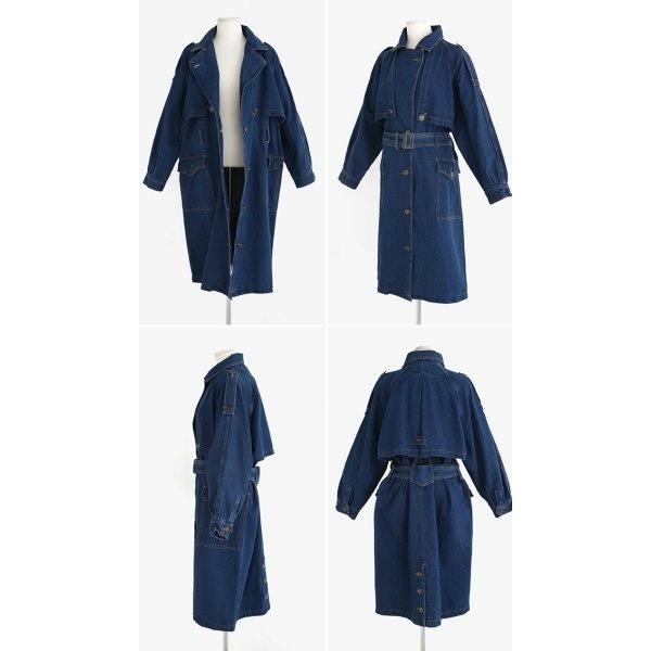 Womans Denim trench coat デニムトレンチコート ジャケット