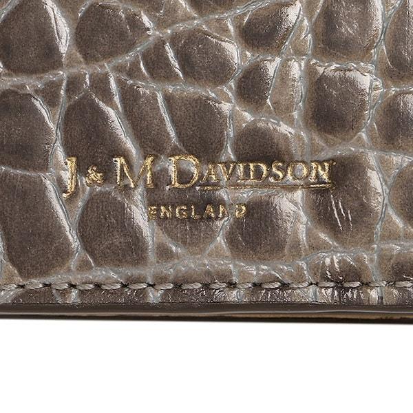 ジェイアンドエムデヴィッドソン 財布 J&M DAVIDSON 10072 7267 9000 エロンゲーテッド ELONGATED WALLET W TAB GRAIN 長財布 GREY