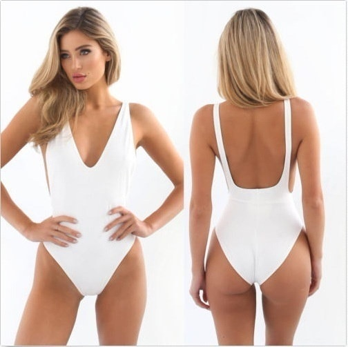 New Fashion Women s High Cut One Piece Swimsuits Bathing Suits Jumpsuit