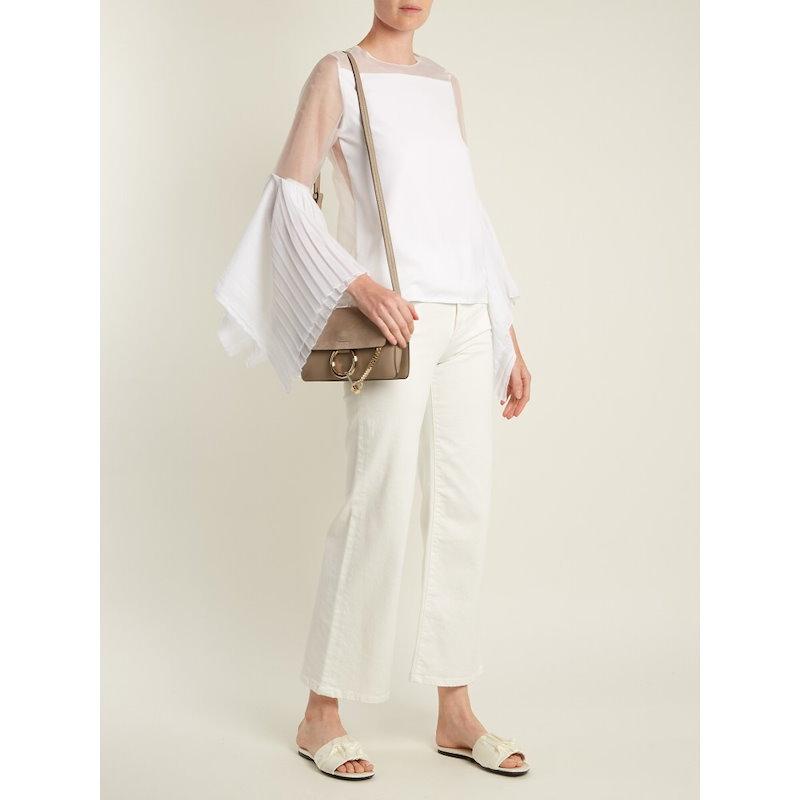 チャフィー レディース トップス ブラウス・シャツ【X Juan Hernandez Daels silk-blend organza blouse】White