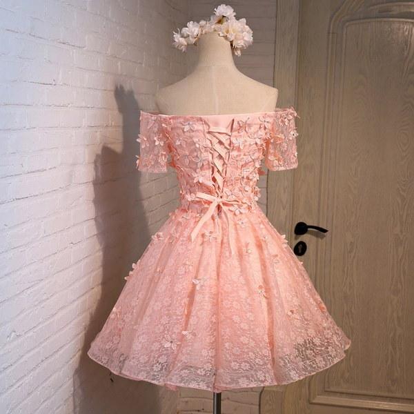 Women Fashion Strapless Short Bridesmaid Dress Prom Dress JP011