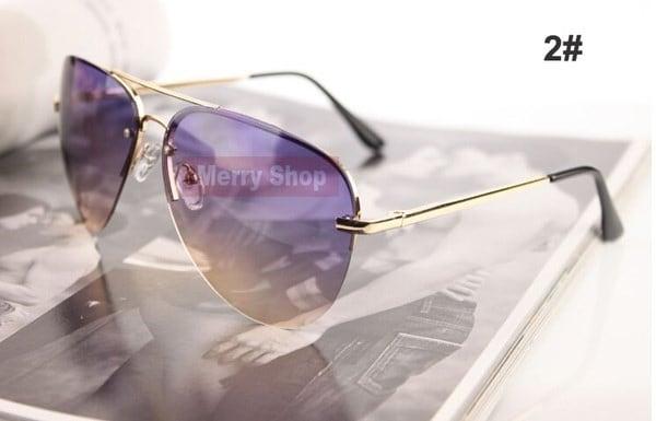 2015クラシックブランドデザイナー女性ファッションカエルミラーグラデーションサングラスヴィンテージリムレスグラス