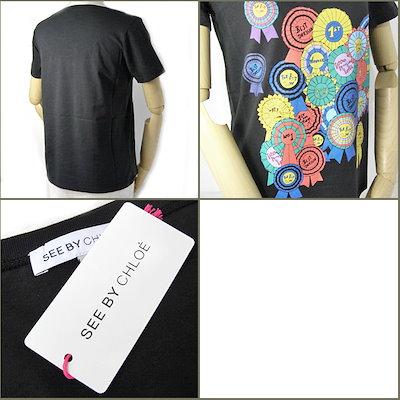 クロエシーバイクロエ 半袖 Tシャツ SEE BY CHLOE 缶バッジ/ブラック サイズ38