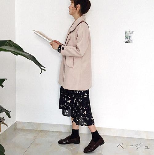 2017 カジュアル ポロシャツ ダッフル コート 大人気 全2色