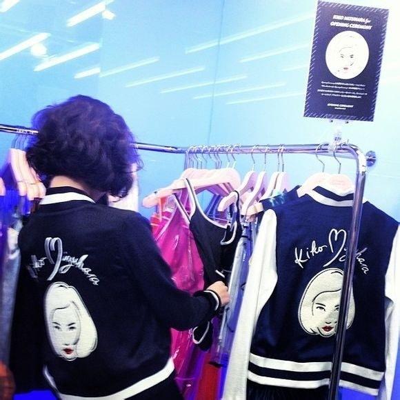 prefall-Winter_kiko misuhara 水原希子 野球 ジャケットコート スポーツユニフォームS~XXL elegant woman--MFI