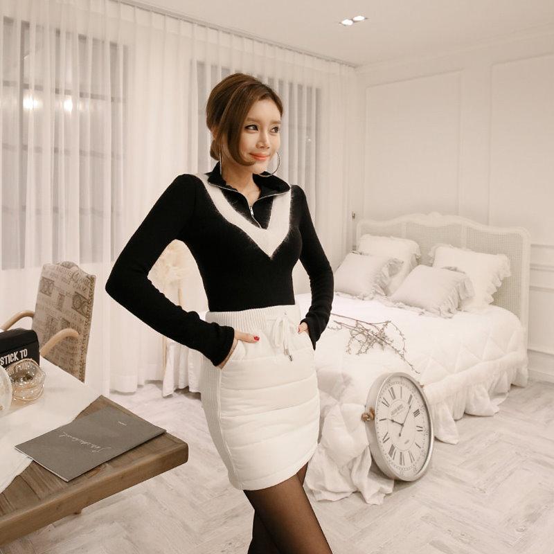 ♥大ヒット商品超特価♥韓国ファッション女性服1位『VIVARUBY』♡ジップアップアンゴラニット♡最高級品質! 送料無料 P0000SRY