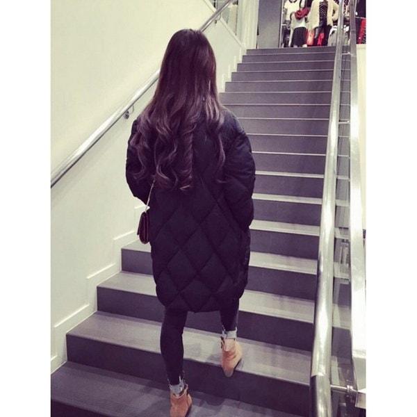 2017新しいファッション秋と冬のジャケット女性パーカー厚い冬のアウターウエアプラスサイズダウンコートショー