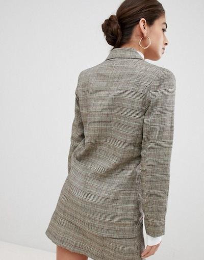 ユニークトゥエンティワン レディース ジャケット・ブルゾン アウター Unique21 checked double breasted blazer