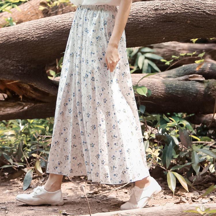 送料無料 ロング スカート 花柄 Aライン スカート フレアスカート フレア スカート レディース