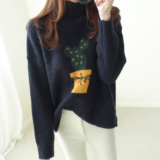 [Dimming] Cactus Polar Knit 4 Colors