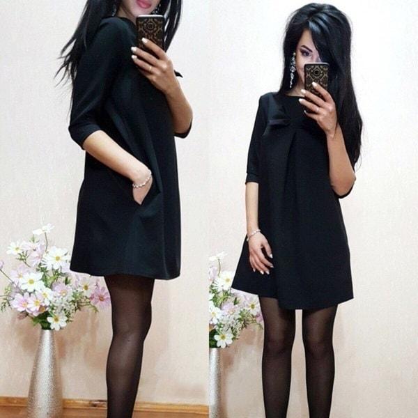 2017ファッションセクシーなボウのドレスかなりのシフォンドレス女性のフルエレガントな快適なミッドウエストドレス
