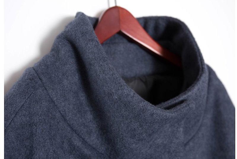 『韓国製』 Cona cape 「ジャケット 50代 40代 30代 大きいサイズ ルーズ 黒  コクーン ウール 2L 黒  チェスター Lサイズ」