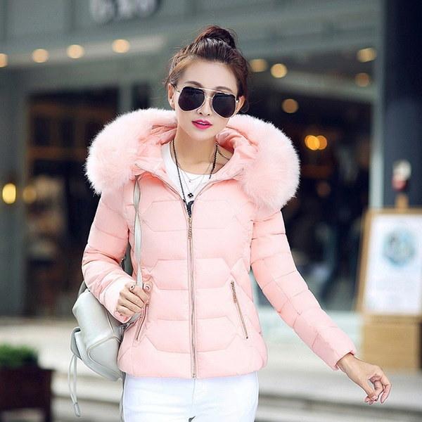 新しい2017ウィンターコート女性スリムプラスサイズアウトウェアワッデッドジャケット厚手フード付きコットンワッズドウォームコットン