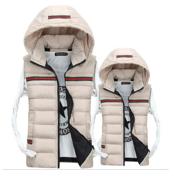 男女兼用 ポケット フード付き カップル 中綿 フード付き 袖無し メンズ レディース ジャケット コート カジュアルダウンベスト ペアルック