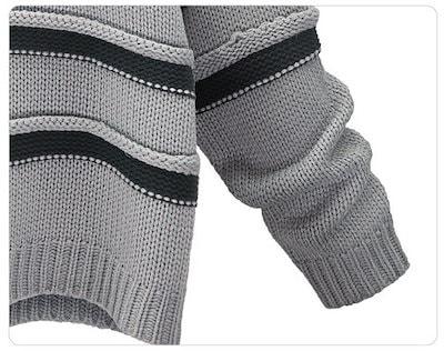 Autumn Winter Fashion Ladies Knitted Striped Thickening Shirt