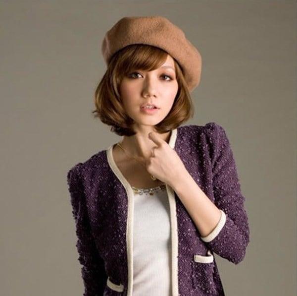ファッション女性ベレー帽キャップマルチカラープリンセスウィンターウールベレー