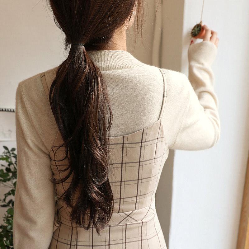 ❤︎ハイネックラインベージュニット【CHERRYKOKO】 【秋冬新作】【送料無料】 ★韓国ファッション★ C710MSKN23
