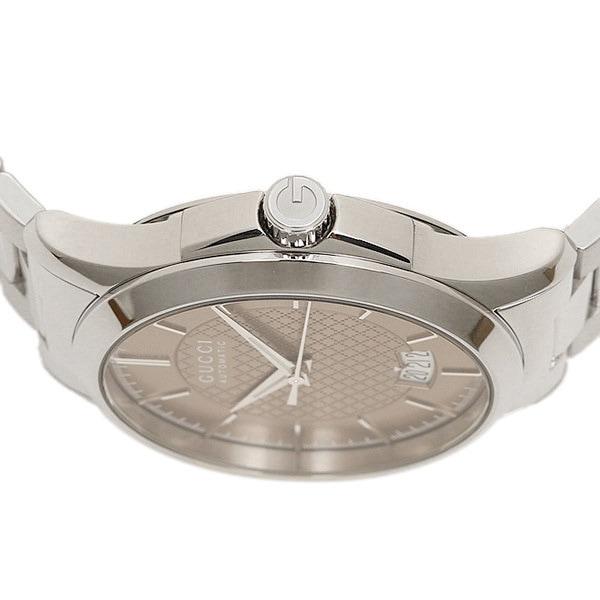 グッチ 時計 GUCCI YA126431 G-タイムレス 自動巻き メンズ腕時計 ウォッチ ブラウン/シルバー