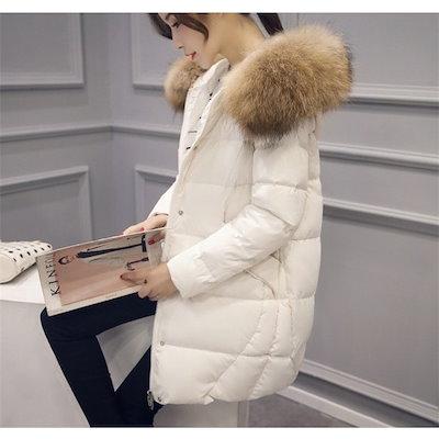 ダウンコート レディース ロング丈 ダウンジャケット スプリングコート フード付き アウター 秋 暖かい 冬 防寒 防風 おしゃれ