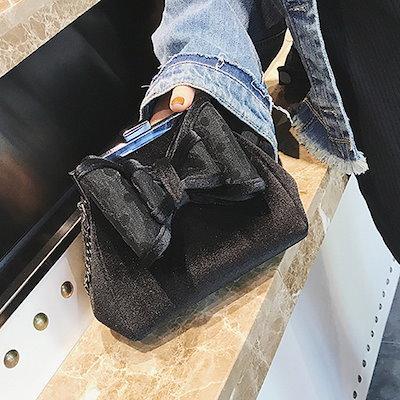 9月中旬発送 ショルダーバッグ バッグ がま口 ショルダー レディース リボン シンプル ミニショルダーバッグ パーティー 結婚式 鞄 新作 bag587