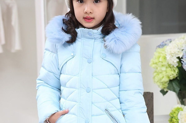 子供の女の子パッディングコートフード付き毛皮の襟冬の暖かいジャケットパーカー