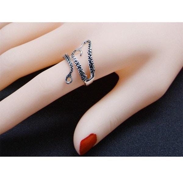 クリエイティブなタコの爪の触手のリング調節可能なレトロパンクスタイルのチタン鋼の宝石男性のための