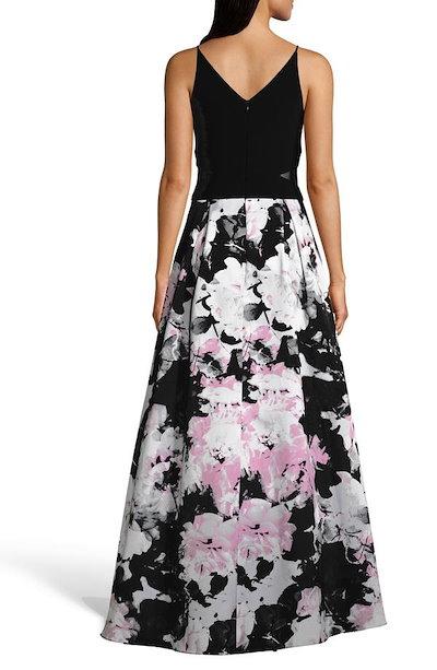 エスケープ レディース ワンピース トップス Xscape Floral High/Low Evening Dress