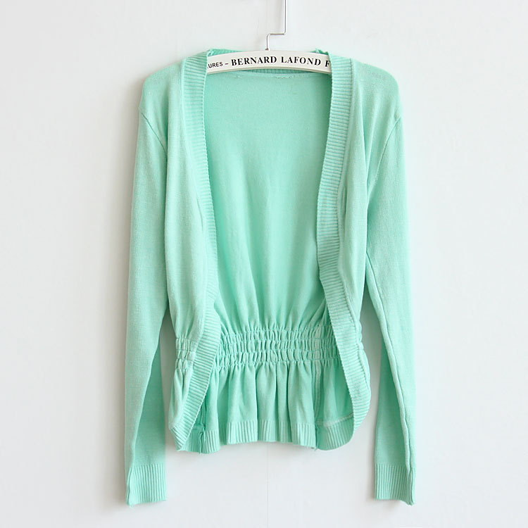 Ladies Fashion Cardigans SWEATERS KNITWEAR BLAZER Office outerwear batwing-sleeved blouses/12 colors