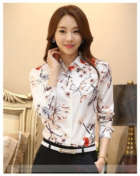 Fashion Chiffon Blouse Blusas Women s Blouses Clothing Office Work Wear Tops Plus Size