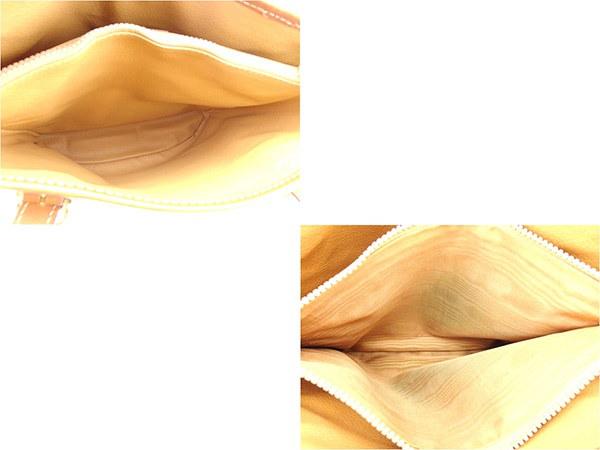 セリーヌ CELINE トートバッグ ショルダーバッグ メンズ可  マカダム ブラウン系×ゴールド PVC×レザー 人気 セール 【中古】 T873 .