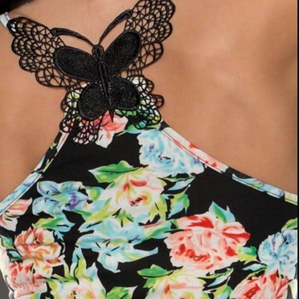 セクシーな女性の包帯タンクトップ夏のセクシーなレースホルタートップファッションノースリーブキャミソール