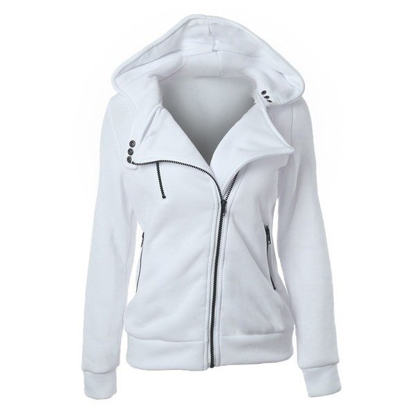 女性の秋冬ファッション厚いスエットシャツ長袖パーカージャケットコート