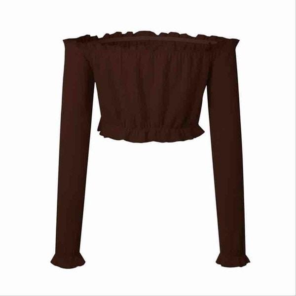 新しいファッションレディース長袖イレギュラートップス夏のカジュアルシャツブラウス