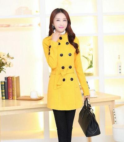 Fashion Winter Autumn Coat Long Coat Outerwear Casual Wool Slim Women Jacket