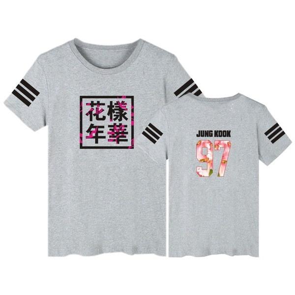 Kpop BTS 97 JUNG KOOKバンタンボーイズ97 JUNG KOOK夏Tシャツ半袖OネックコットンBTSファン