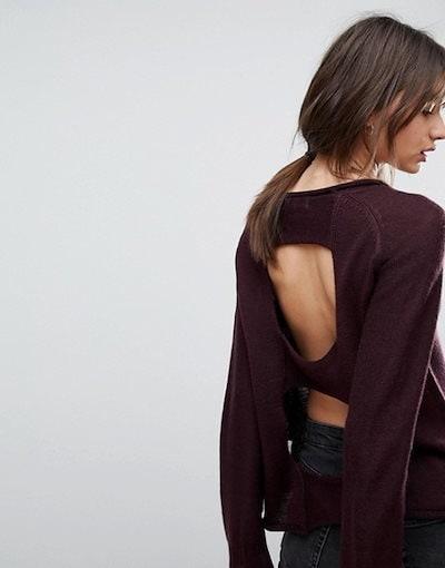 エイチワン レディース ニット・セーター アウター H.One Open Back Wool Blend Sweater