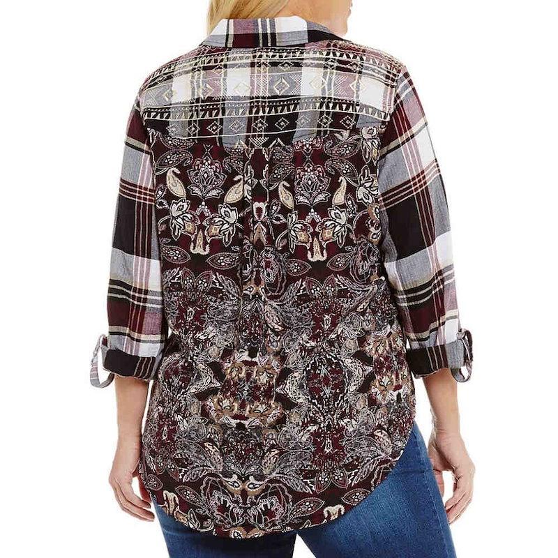 ウエストバウンド レディース トップス ブラウス・シャツ【Westbound Plus One Pocket Popover Shirt】Plaid/Wallpaper