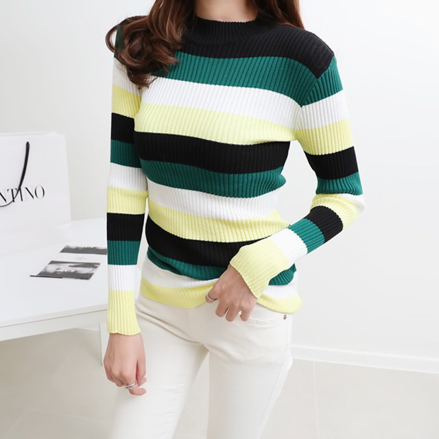 [Deming] Bene Stripe Golition Knit 3 Colors
