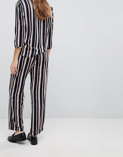 ジェイディーワイ レディース カジュアルパンツ ボトムス JDY Printed Stripe Belted Pants