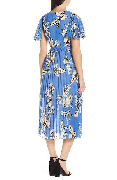 フォキシィドックス レディース ワンピース トップス Foxiedox Floral Pleated Midi Dress