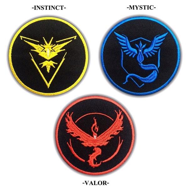 ポケモンGo Team Instinctミスティックバロールパッチ刺繍アイロンアップリケバッジ