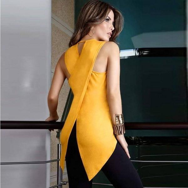 ファッション女性シフォンブラウス不規則な半袖Tシャツシフォントップス