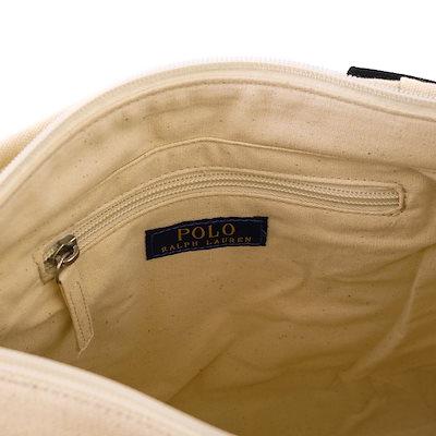 POLO Ralph Lauren ポロ ラルフローレン トートバッグ RAS10151A Medium Tote レディース 女性 ロゴ刺繍 ミディアムトートバッグ キャンバス ビッグポニー 国内正
