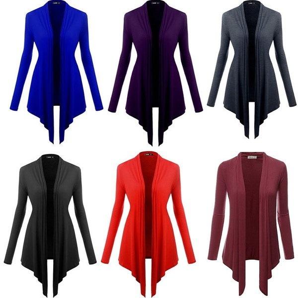 新しい女性の長袖ニットカーディガンコートジャケットアウターカジュアルルーズセータートップス