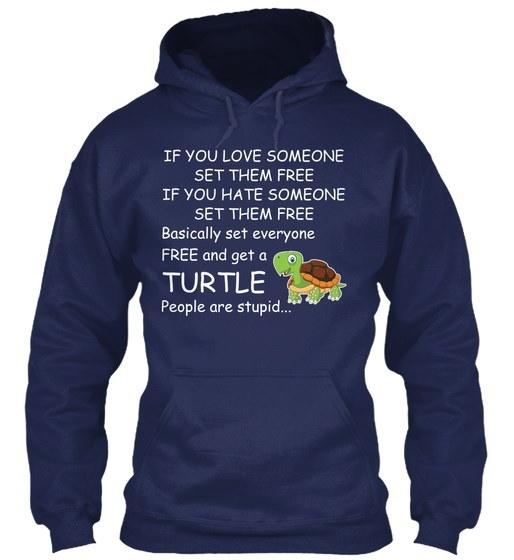 Turtle Set Them Free Gildan Hoodie Sweatshirt