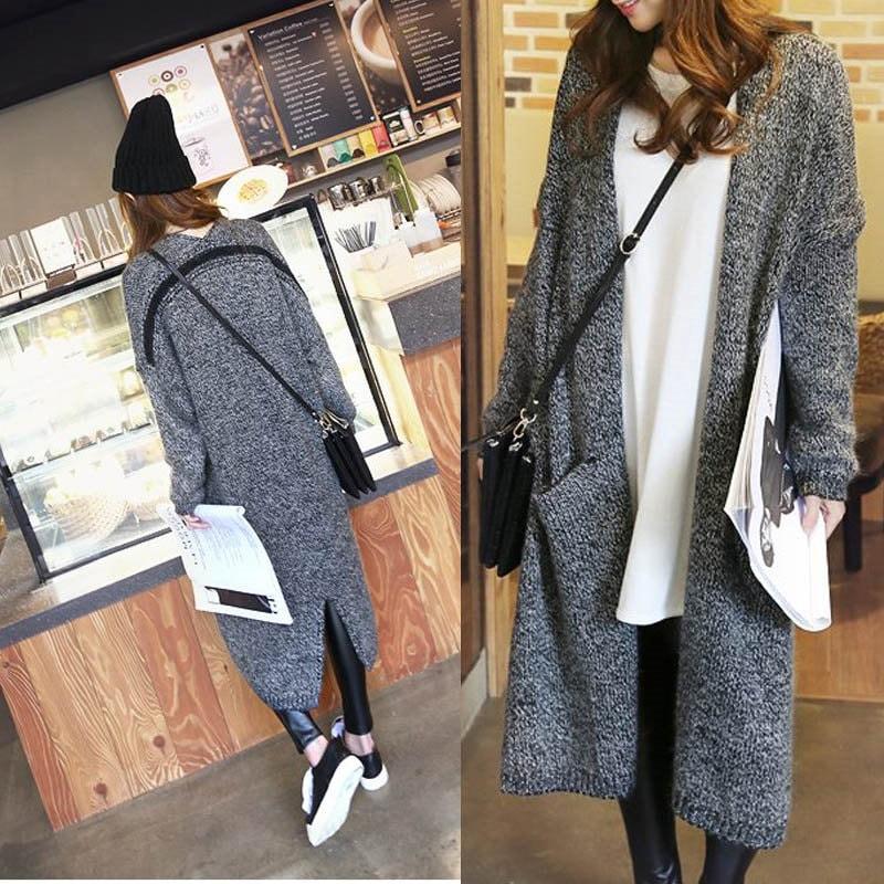 ニットジャケット セーター コート ロング おしゃれ 普段着 大きいサイズ レーテイスファション